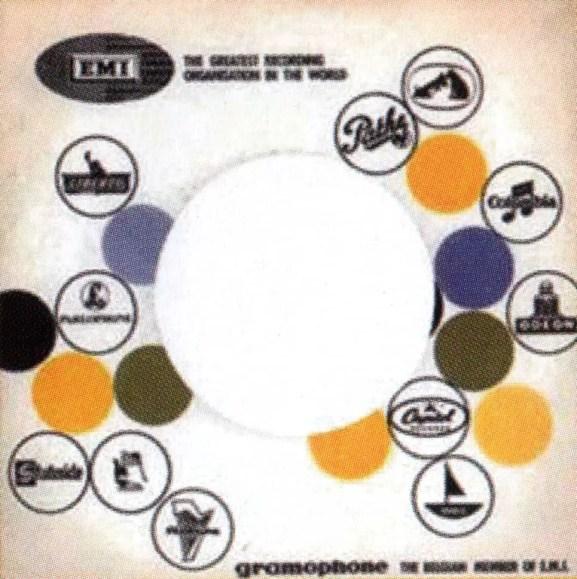 Parlophone single sleeve, 1965-66 - Belgium