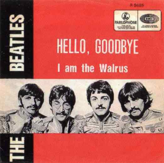 Hello, Goodbye single artwork - Belgium