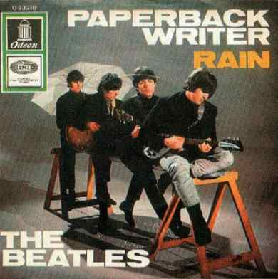 Paperback Writer single artwork - Germany
