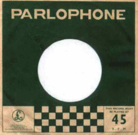 Parlophone single sleeve, 1964-65 - India