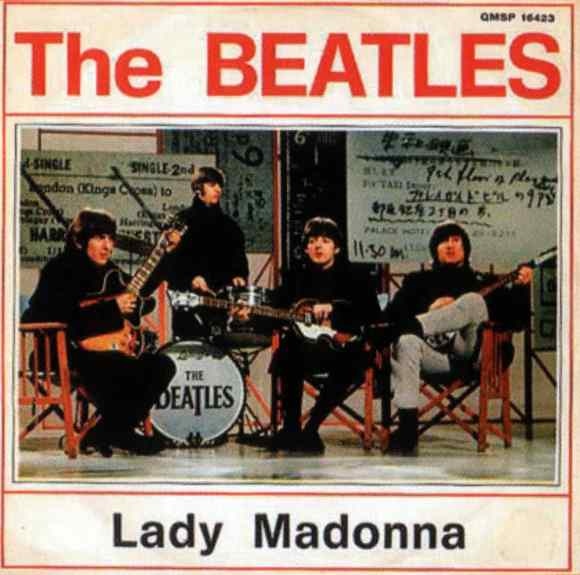 Lady Madonna single artwork - Italy