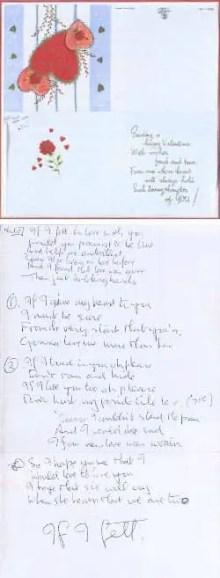 John Lennon's handwritten lyrics for If I Fell