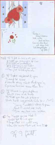 John Lennon's handwritten lyrics for If I Fell