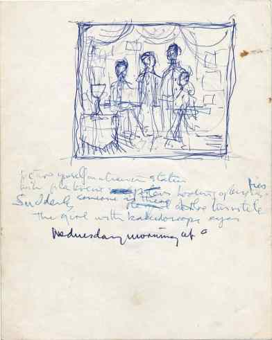 John Lennon's handwritten lyrics for Lucy In The Sky With Diamonds