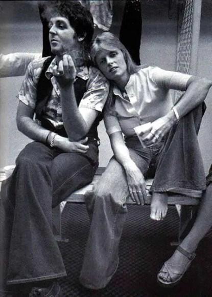 Paul and Linda McCartney, 1976