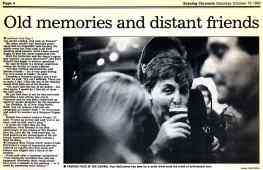 Report from Bath's Evening Chronicle newspaper about Paul and Linda McCartney's visit on 9 October 1992