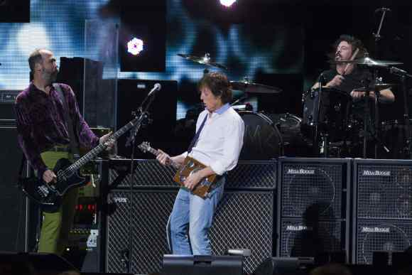 Paul McCartney, Dave Grohl and Krist Novoselic, 12 December 2012