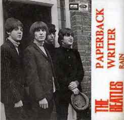 Paperback Writer single artwork - Spain