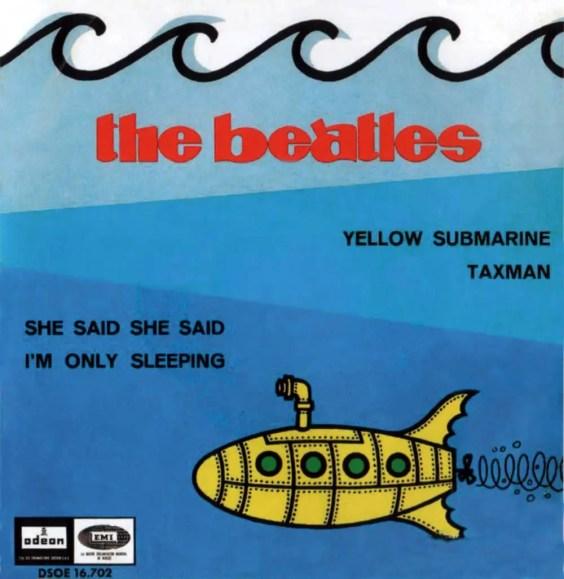 Yellow Submarine EP artwork - Spain