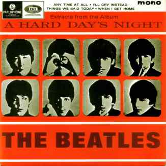 Extracts From The Album A Hard Day's Night EP artwork - United Kingdom