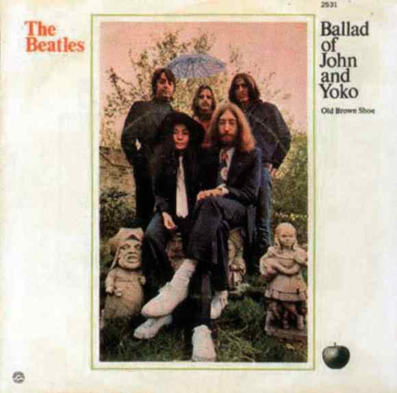 The Ballad Of John And Yoko single artwork - USA