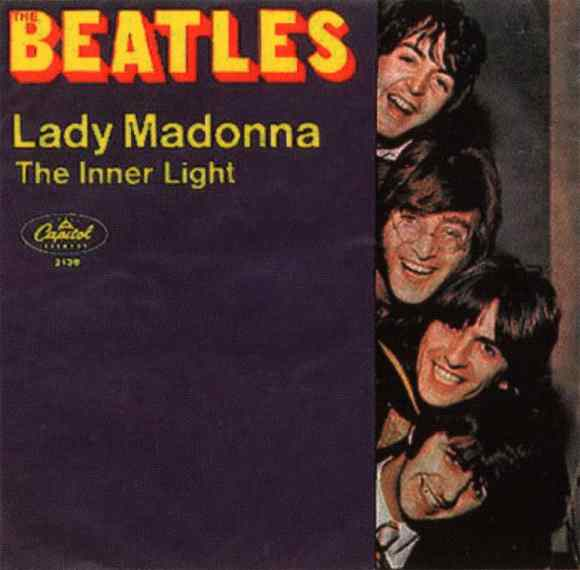 Lady Madonna single artwork - USA