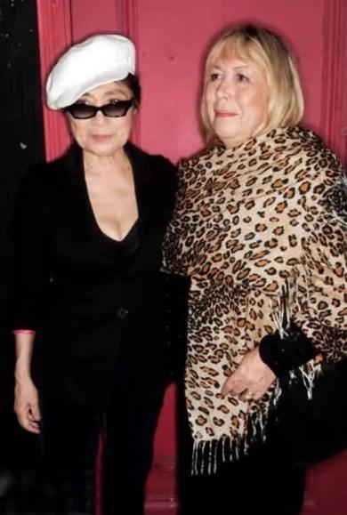 Yoko Ono and Cynthia Lennon