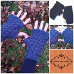 Shells & Bobbles Fingerless Gloves… Free Crochet Pattern!