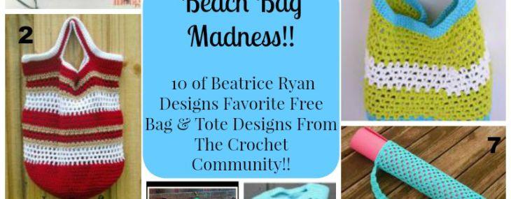 Beach Bag Maddness… 10 Free Crochet Patterns!!