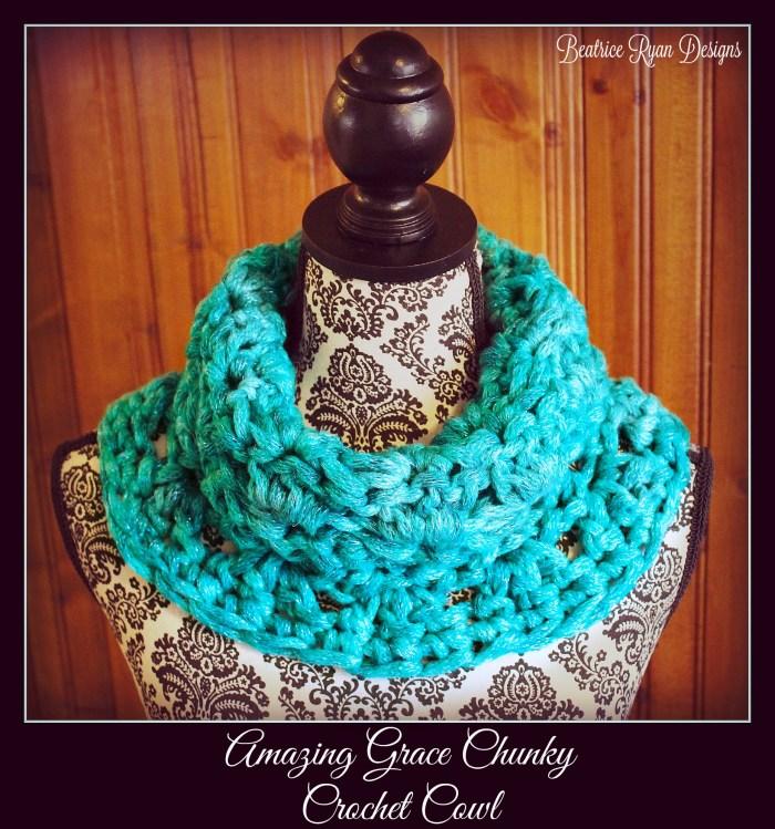 Amazing Grace Chunky Crochet Cowl - Free Pattern