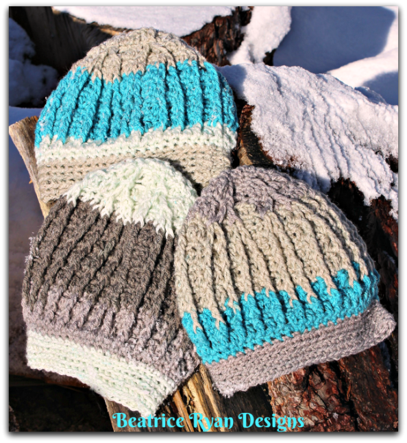 Knitting Pattern Png : Snowy mountain beanie… free crochet pattern