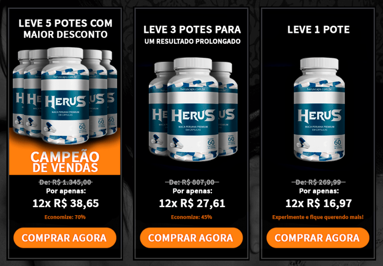 Preco do Herus Caps