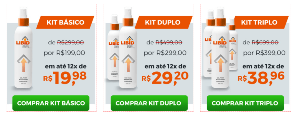 Preco do Libid Gel