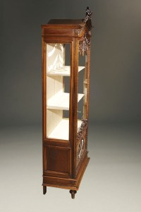 Antique Louis XVI Style curio cabinet.