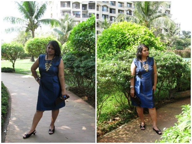 Blue dress for outing