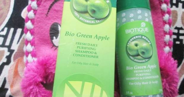 Biotique bio green apple shampoo and conditioner5