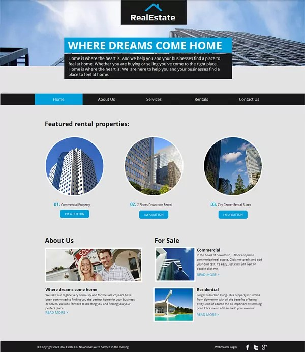 15 Best Free Real Estate Templates