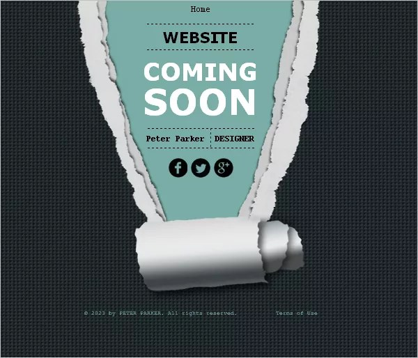 30 Best Free Coming Soon / Under Construction Templates