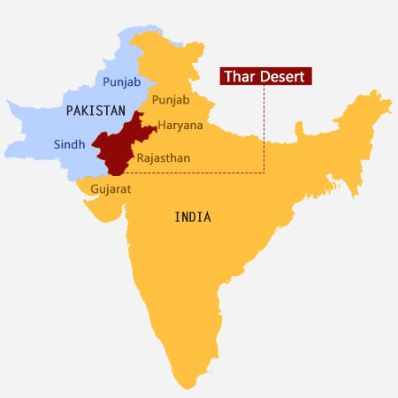 Thar Desert Facts  Information - Indian Desert Map Travel Guide