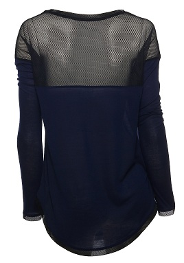 Long Sleeve Top with Mesh Back AED 160