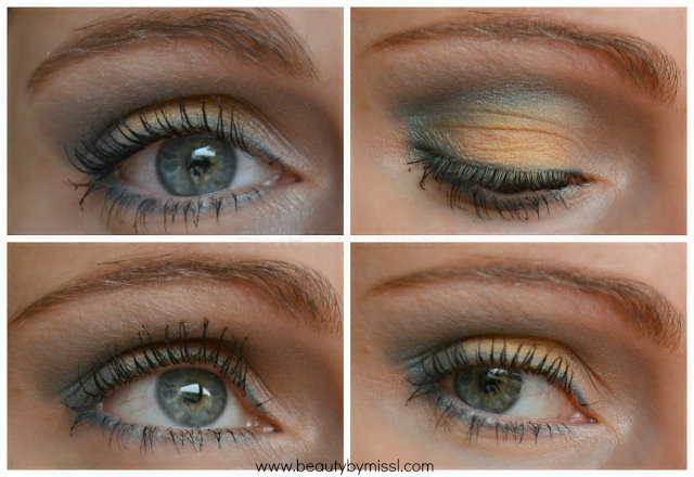 Yellow Green Eyes With Avon Eyeshadow Palette
