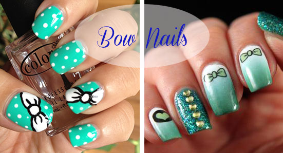 Cute Nail Art Designs With Bows Beauty Tips Hair Care
