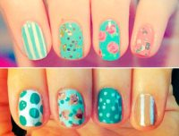 Mismatched Nail Design Ideas  BeautyFrizz