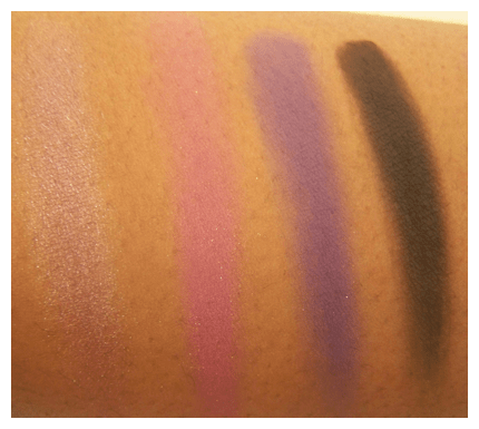 posh plums 1st half swatch Black Radiance 8 Pan Palette Swatches