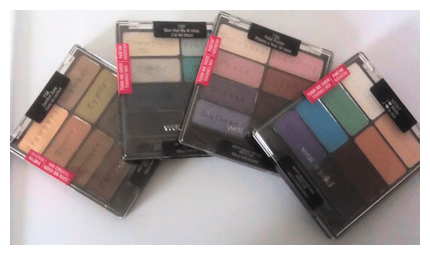 wet n wild 8pan Black Radiance 8 Pan Palette Swatches