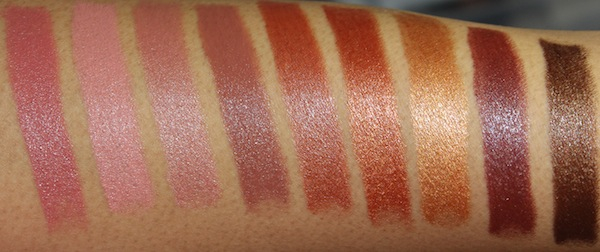milani color statement natural and brown lipstick swatches New Milani Color Statement Natural and Brown Lipsticks