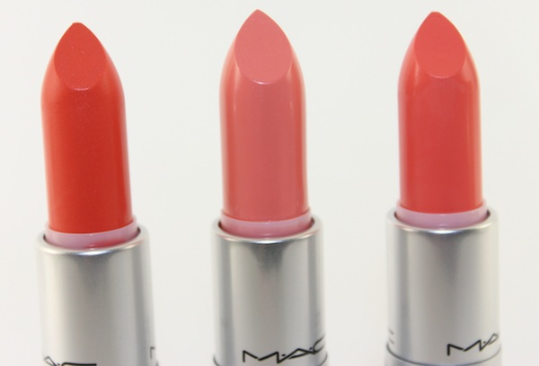 MAC All about orange lipsticks MAC All About Orange Swatches