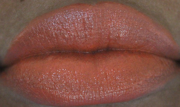 MAC tart and trendy lip swatch MAC All About Orange Swatches
