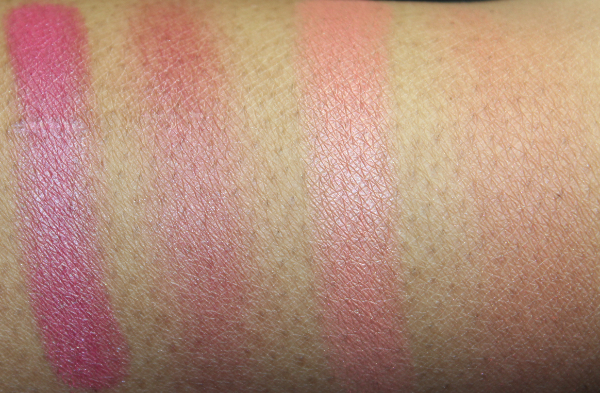 mac ripe for love and hot nights swatch MAC Temperature Rising Swatches
