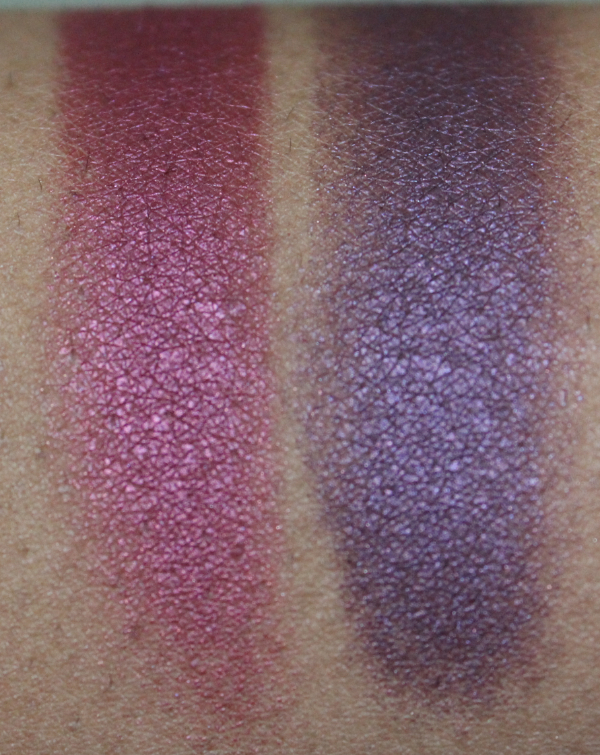 mac crimson tryst and brazenly eyeshadow close MAC Nudes & Metallics Swatches