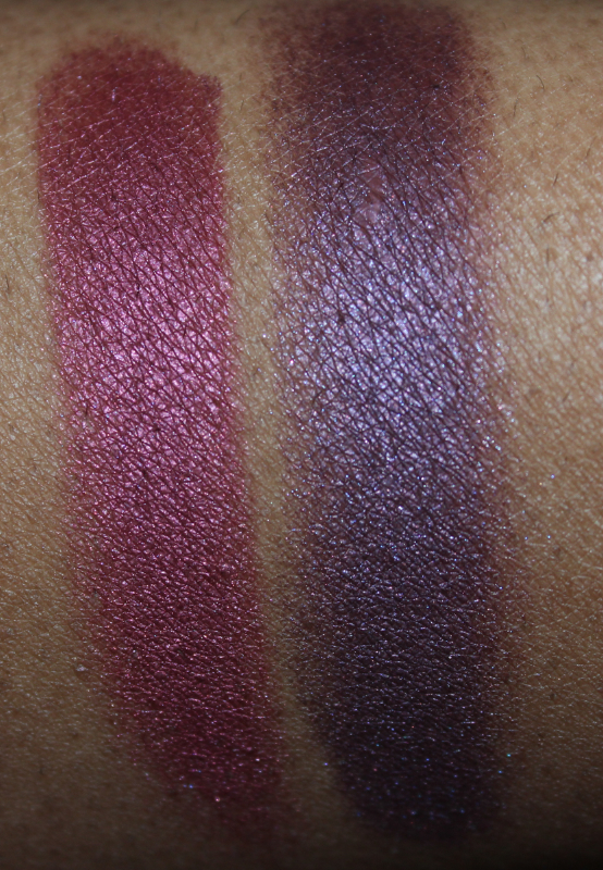 mac crimson tryst and brazenly eyeshadow flash MAC Nudes & Metallics Swatches
