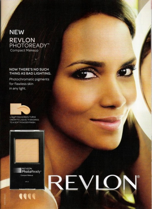 Halle Berry is the face of Revlon.