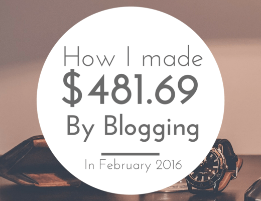 How I made $481.49 in one month of blogging!