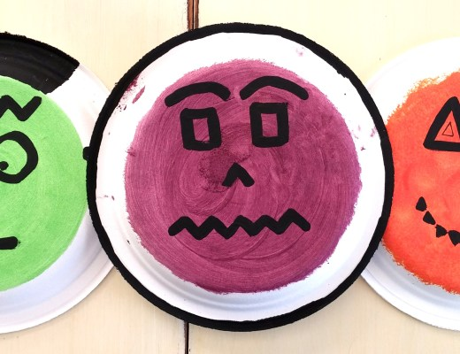 Easy Halloween Paper Plate Craft