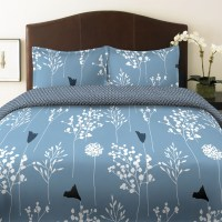 Shop Perry Ellis Asian Lilly Blue Sheets By BeddingStyle
