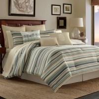 Tommy Bahama Canvas Stripe Comforter Set from Beddingstyle.com
