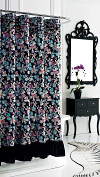 Nicole Miller Watermark Shower Curtain from Beddingstyle.com