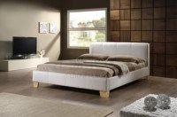 Birlea Brooklyn White 4ft Small Double Faux Leather Bed ...