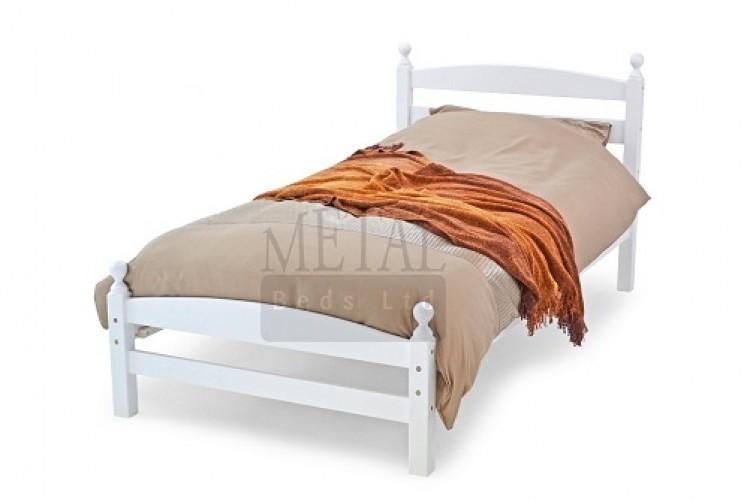 Metal Beds Moderna 3ft 90cm Single White Wooden Bed