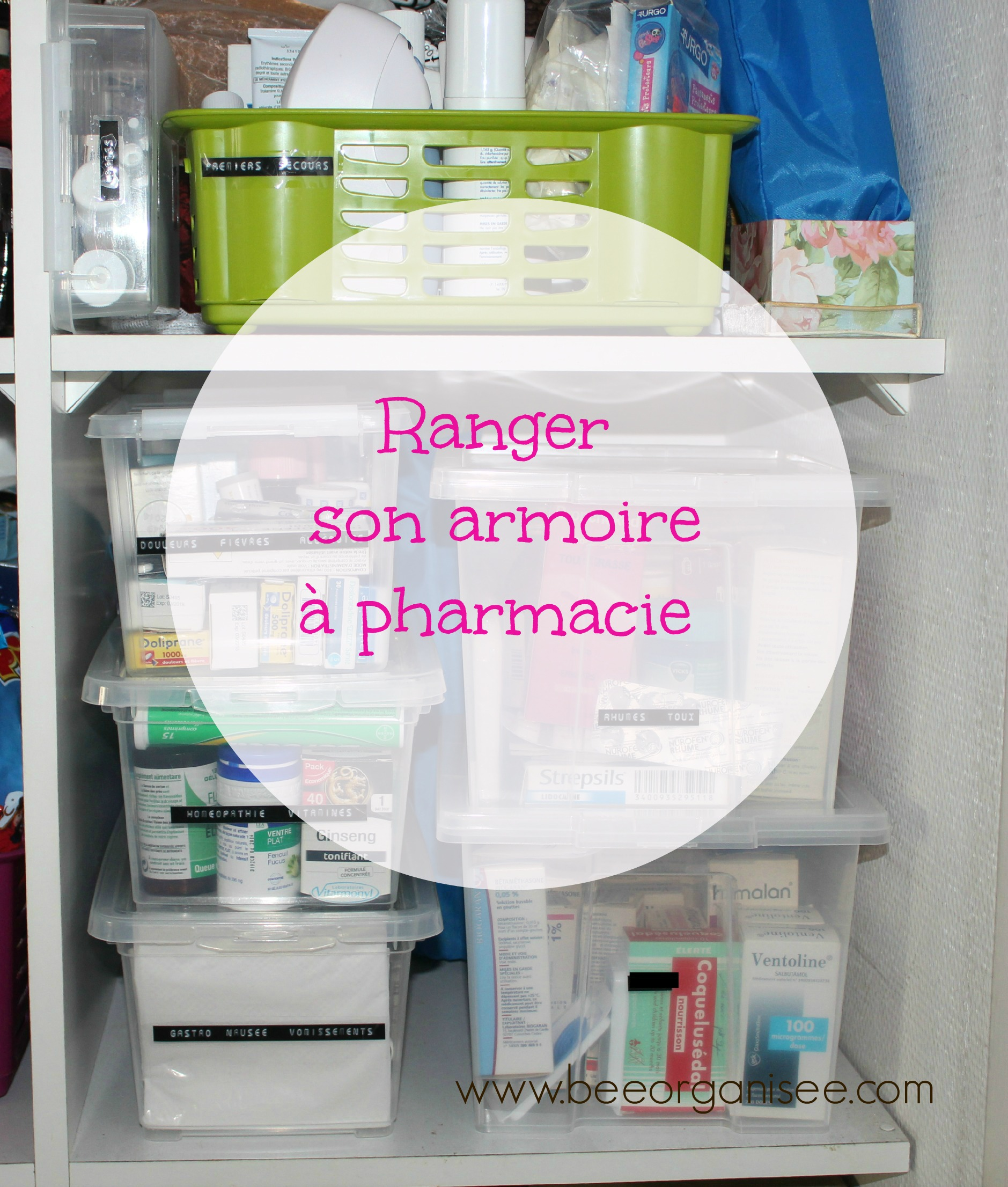 Ranger son armoire pharmacie bee organis e - Comment ranger ses placards ...